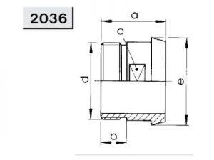Конический штуцер редукционный (2036)