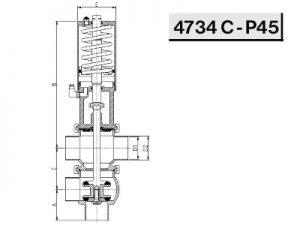 Схема седельного клапана 4734 С - Р45